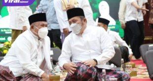 Gubernur Sumsel H Herman Deru hadiri Semarak Hari Santri Nasiona 2021 di Griya Agung Palembang, Jumat (22/10/2021) malam. Foto : viralsumsel.com