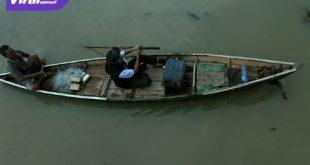 Monitoring Perairan Musi : Penyuluh Perikanan Bantu bersama anggota kelompok Perikanan Jaya Bakti, pemantauan nelayan yang melakukan penangkapan ikan dengan cara-cara tidak benar seperti setrum dan putas. Foto : viralsumsel.com/ M Hatta