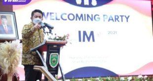 Gubernur Sumsel, H Herman Deru hadiri Welcoming Party IMO di Griya Agung Palembang, Kamis (21/10/2021) malam. Foto: viralsumsel.com/win