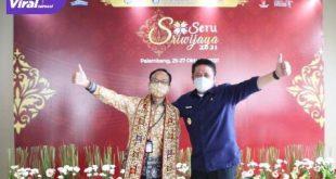 Gubernur Sumsel Herman Deru hadiri Opening Ceremony Semarak UMKM Sriwijaya Tahun 2021 di Ballrom Hotel Arista Palembang, Senin (25/10/2021). Foto : viralsumsel.com/win